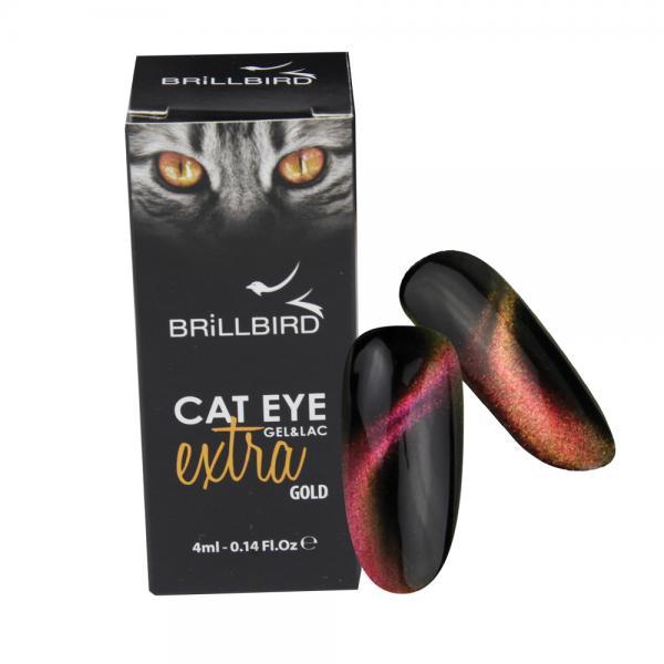 Cat Eye Extra Gél Lakk - Gold