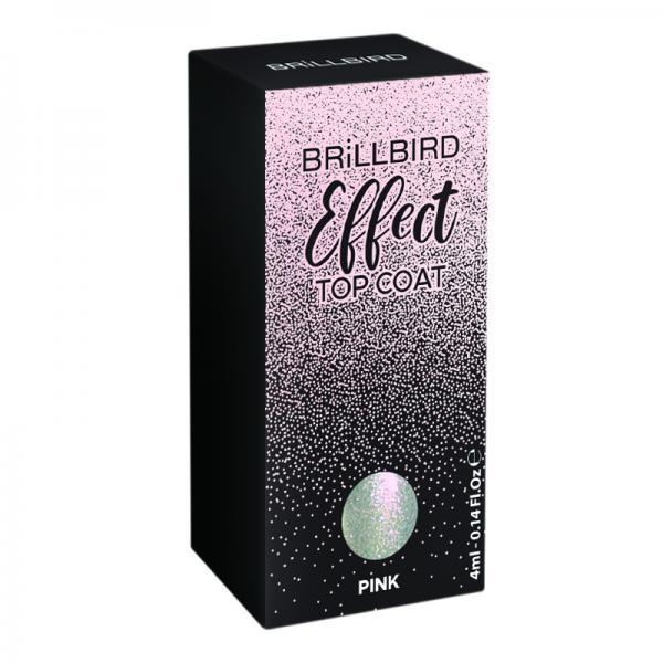 Effect Top Coat - Pink 4 ml
