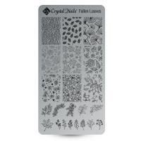 Egyedi Crystal Nails Körömnyomda lemez - Fallen leaves
