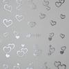 Acryl hatású matrica - y041 - ezüst