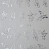 Acryl hatású matrica - y049 - ezüst