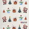 Karácsonyi matrica - akril 11