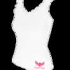 Elegáns csipkés top - fehér L