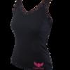 Elegáns csipkés top - fekete 2XL