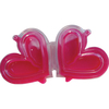 Szív strassztartó rózsaszín, kihajtható